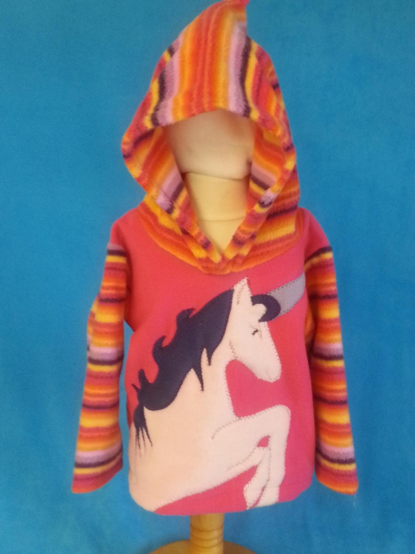 girls unicorn hoodie alfie and alice