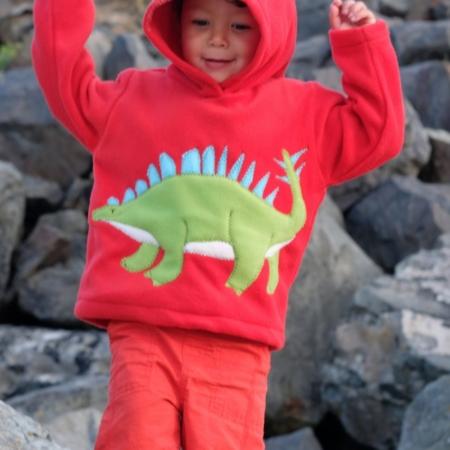 dinosaur hoodie Alfie and Alice